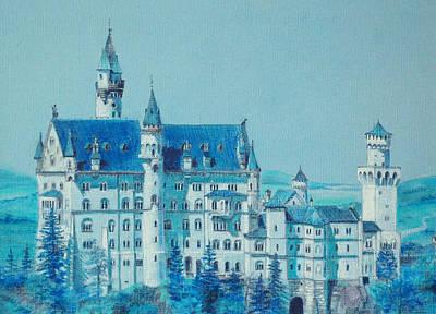 castle Neuswanstein Art Print by Radchenko Julia