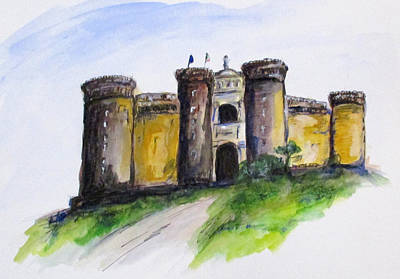 Painting - Castle Nuovo, Napoli by Clyde J Kell