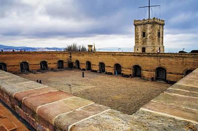 Castle Of Montjuic Barcelona Art Print by Joan Carroll