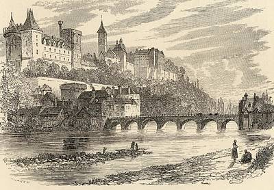 Manning Drawing - Castle Of Pau Spain From The Book by Vintage Design Pics