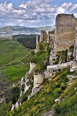 Photograph -  Castle Of Pietraperzia by Patrick Boening