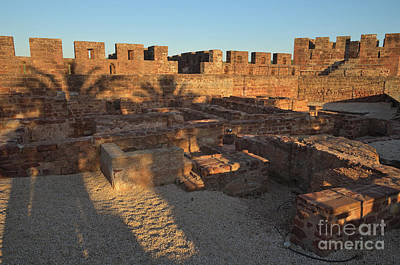 Ruins Photograph - Castle Of Silves During Golden Hour by Angelo DeVal
