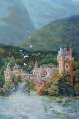 Painting - Castle Of The Highlands by Carol Strickland