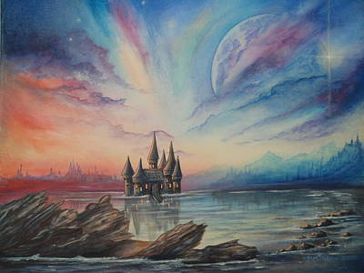 Painting - Castle On A Lake by Krystyna Spink