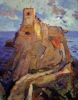 An Island Painting - Castle On San Nicola Island by R W Goetting