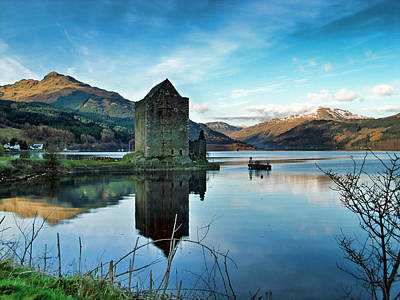 Castle On The Loch Art Print by Lynn Bolt