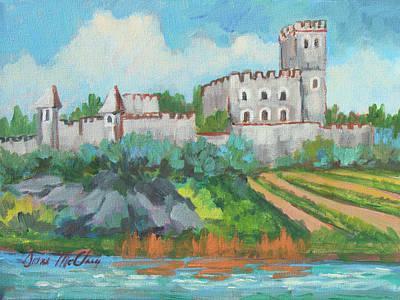 Castle On The Upper Rhine River Original