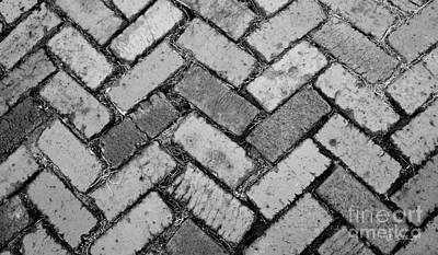 Photograph - Castle Path In Black And White by E B Schmidt