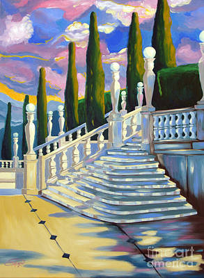 Painting - Castle Patio 1 by Milagros Palmieri