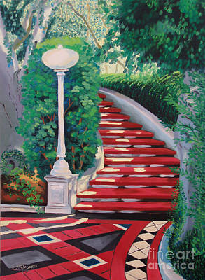 Painting - Castle Patio 2 by Milagros Palmieri