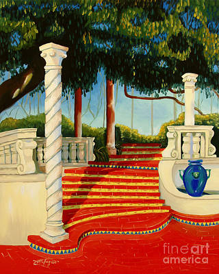 Painting - Castle Patio 3 by Milagros Palmieri