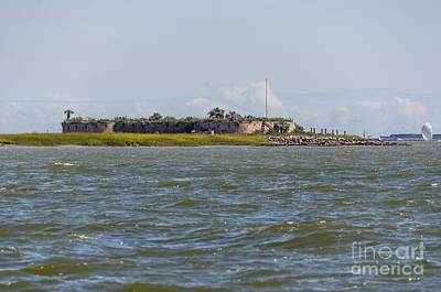 Photograph - Castle Pinckney In Charleston Harbor by Dale Powell