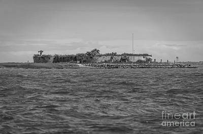 Photograph - Castle Pinckney In Charleston Sc by Dale Powell