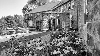 Photograph - Castle Portico In Black And White by E B Schmidt