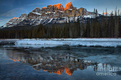 Photograph - Castle Red Peak Reflections by Adam Jewell
