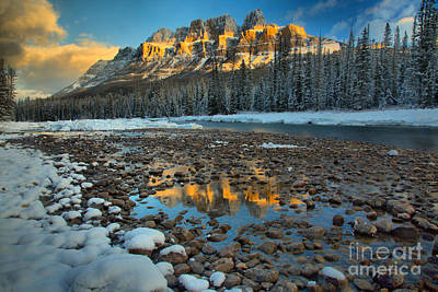 Photograph - Castle Reflections Along The Rocky Banks by Adam Jewell
