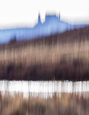 Castle Rock And Colorado River Art Print