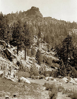 Photograph - Castle Rock Near Donner Pass Highway 80 by California Views Archives Mr Pat Hathaway Archives