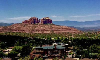 Photograph - Castle Rock Sedona by Lorna Maza