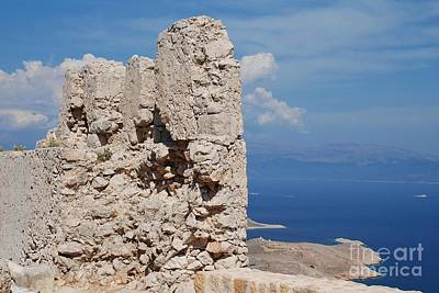 Photograph - Castle Ruins On Halki by David Fowler