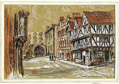 Drawing - Castle Square Lincoln by SJV Jeffery-Swailes
