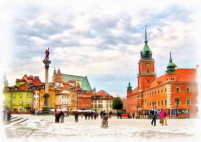 Castle Square, Warsaw Art Print