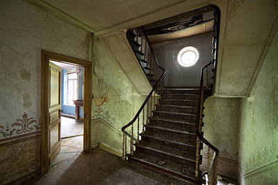 Haunted House Photograph - Castle Stairs - Abandoned Building by Dirk Ercken