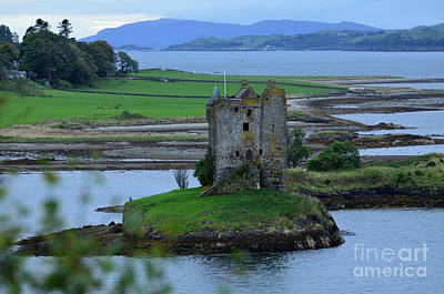 Photograph - Castle Stalker Stone Ruins In Scotland by DejaVu Designs