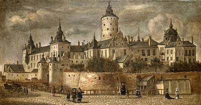 Painting - Castle Tre Kronor. Stockholm by Govert Dircksz Camphuysen