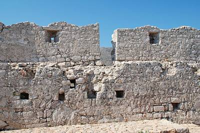 Photograph - Castle Wall On Halki by David Fowler