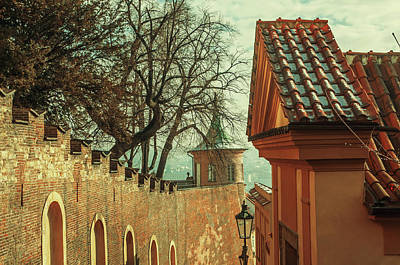 Photograph - Castle Wall. Winter Morning In Prague by Jenny Rainbow