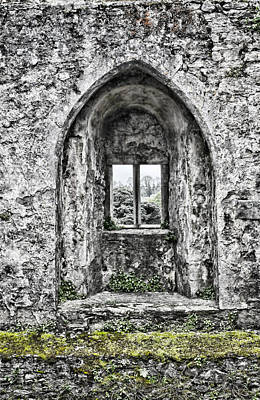 Photograph - Castle Window by Sharon Popek