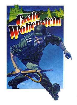 Video Game Painting - Castle Wolfenstein by John D Benson