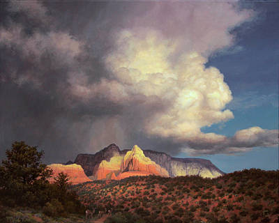 Dramatic Lighting Painting - Castles And Clouds by John Cogan