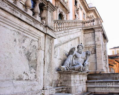 Photograph - Castor And Pollux At Campidoglio by Angela Rath