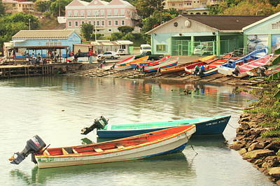 Art Print featuring the photograph Castries Harbor Waterfront by Roupen  Baker