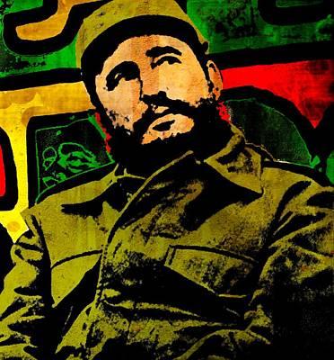 Cuban Mixed Media - Castro by Otis Porritt