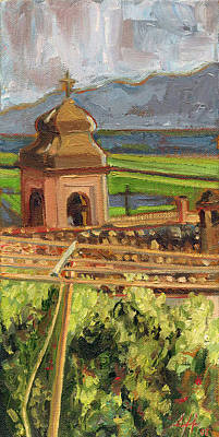 Bell Tower Painting - Castrocielo Bell Tower by Jennie Traill Schaeffer