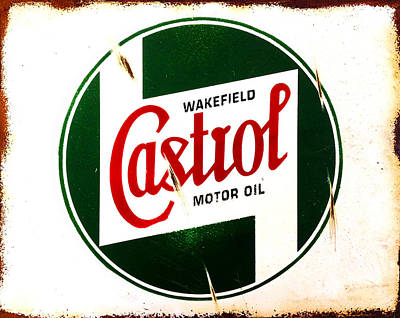 Vintage Photograph - Castrol Motor Oil by Mark Rogan