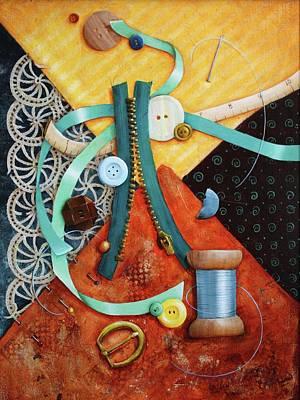 Zipper Painting - Casualties Of Wore by Lorraine Ulen