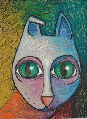 Cat  2000 Art Print by S A C H A -  Circulism Technique
