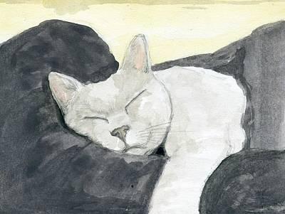 Catnap Painting - Cat #3 by Kurt Prather