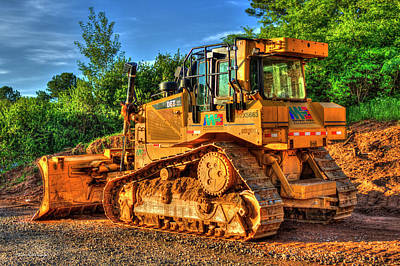 Photograph - Cat 6t Xl Bulldozer Construction Art by Reid Callaway