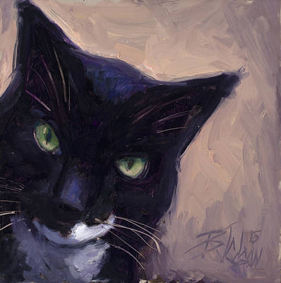 Painting - Cat A Tude by Billie Colson