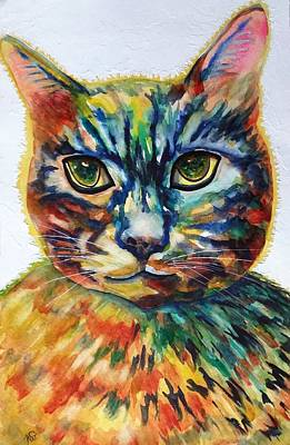 Painting - Cat A Tude by Kim Shuckhart Gunns