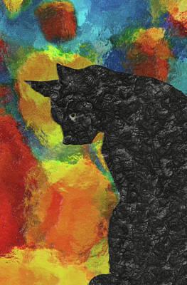 Cat Abstract Art Print