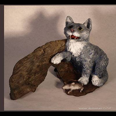 Cat And Mice Main View Art Print by Katherine Huck Fernie Howard