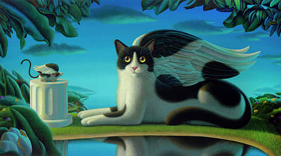 Wall Art - Painting - Cat And Mouse 2 by Chris Miles
