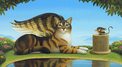 Wall Art - Painting - Cat And Mouse by Chris Miles