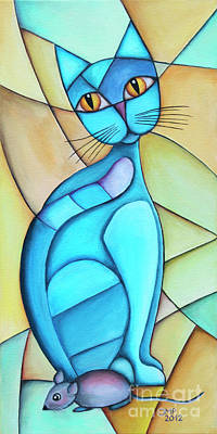 Painting - Cat And Mouse by Jutta Maria Pusl